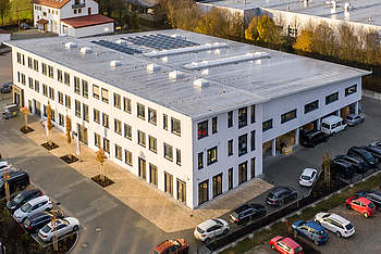 New logistics hall with office building