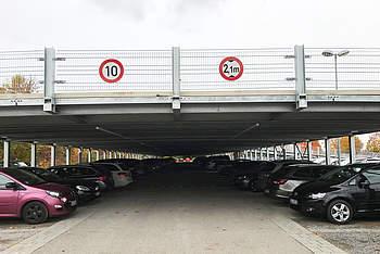 Temporary Preflex Parking Garage in Stuttgart