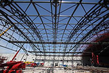 Construction of a New Aircraft Maintenance Hangar