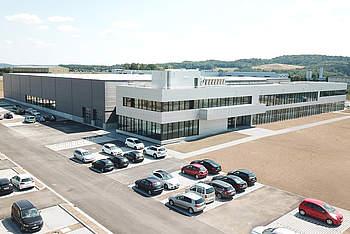 Facade for new company headquarters