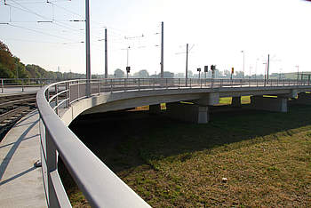 Flood Bridge at the New Trade Fair in Dresden