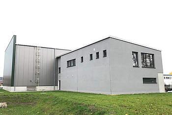 Stahlhalle für neues Wasserwerk
